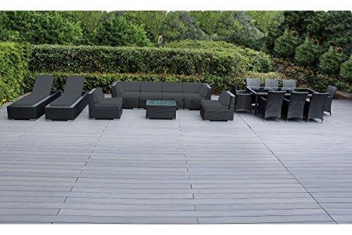 Genuine Ohana Outdoor Patio Wicker Furniture 7pc Set