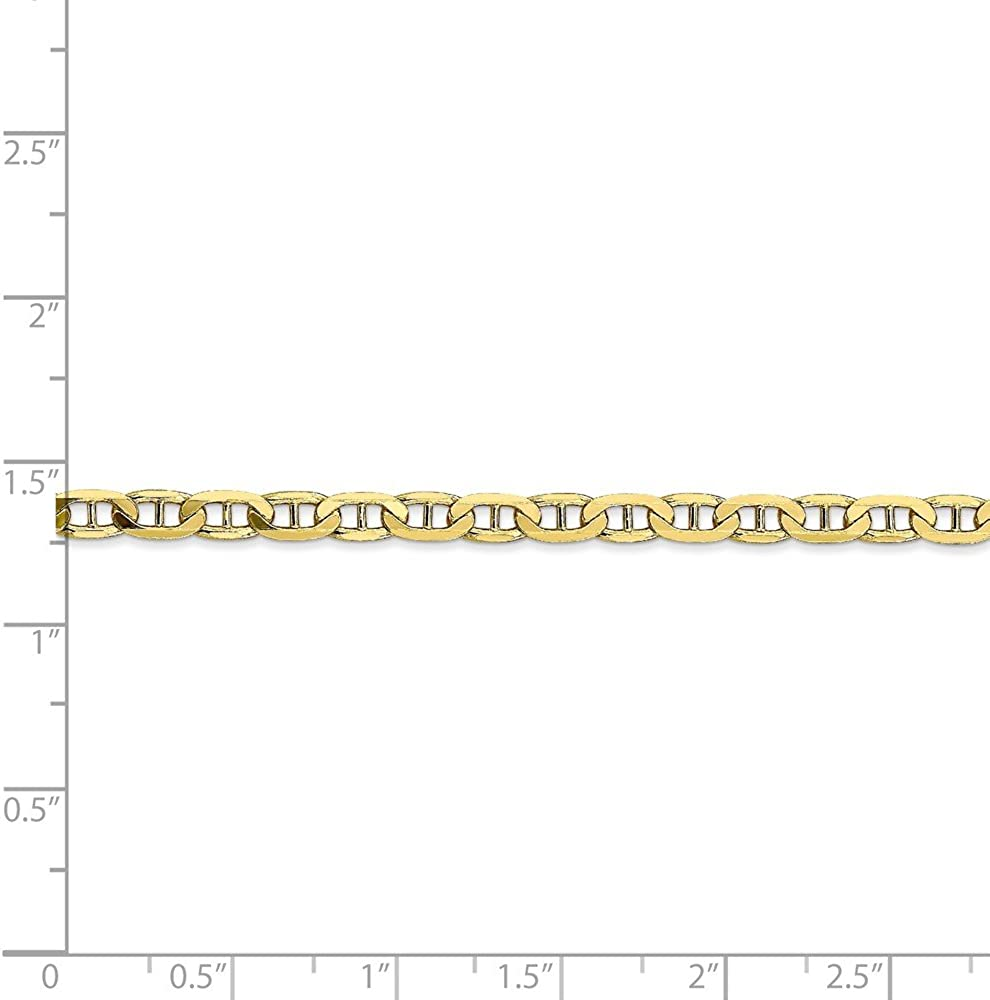 Mia Diamonds 10k Yellow Gold 3.75mm Concave Anchor Chain Necklace