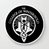 Society6 The College Of Winterhold Wall Clock White Frame, Black Hands