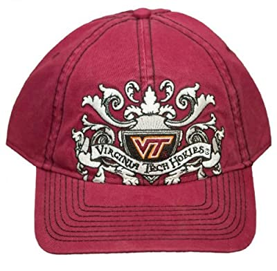 New! Virginia Tech Hokies Adjustable Buckle Back Hat Embroidered Cap - Maroon from NCAA Signatures