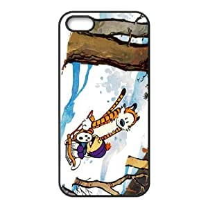 Fashion Calvin and Hobbes Personalized iPhone 5 5S PC Silicone Case Cover