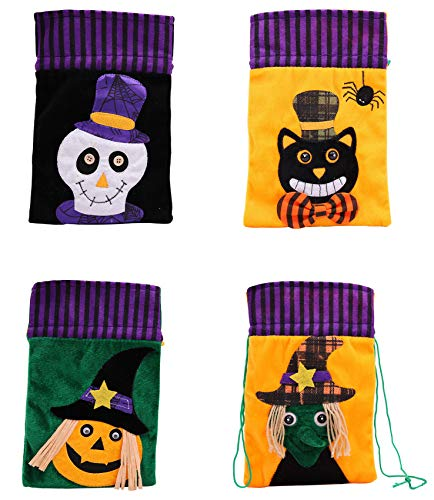 - Drawstring Bags Halloween Candy Bag Muslin Bags Pouch Bags Gift Bags for Party Favor and DIY Craft 4Pcs