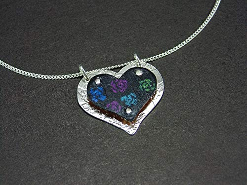 Sterling Silver Necklace heart Pendant Handmade