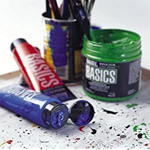 Liquitex BASICS Acrylic Paint 4-oz tube, Cadmium Red Medium Hue