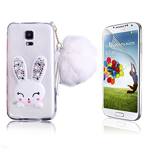 huge discount ba50d acefa Galaxy S5 Case, Bonice Cartoon Rabbit Bling Diamond Crystal - Import ...