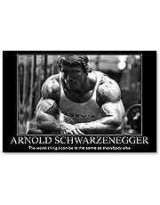 Arnold Schwarzenegger Poster Inspirational Citaat Fitness Muur Foto Of Canvas Schilderij Home Decor-60x90cm Geen Frame