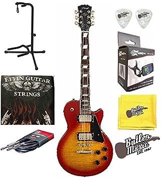 Stagg l500cs LP de madera de cerezo Custom guitarra eléctrica w/EFFIN cuerdas Plus más: Amazon.es: Instrumentos musicales