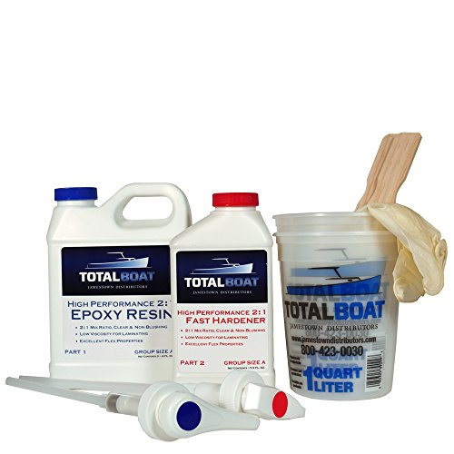 - TotalBoat 2:1 High Performance Epoxy Kits (Quart, Fast)