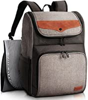 HapTim Diaper Bag Backpack Large Capacity/Wide Open Easy Organize/Comfortable/Fashion Cool Gift for Newborn Mother...