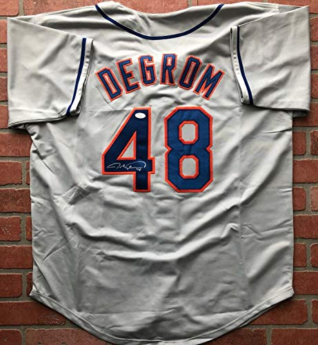 Jacob Degrom Autographed Signed Jersey MLB New York Mets JSA Coa Cy Young - Authentic Memorabilia ()