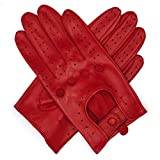 #5: Harssidanzar Womens Touchscreen Luxury Italian Lambskin Leather Driving Gloves Unlined Vintage Finished