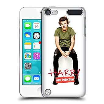 Official One Direction 1D Harry On Green Solo Photographs Autographed Hard Back Case Cover for Apple iPod Touch 5G 5th Gen
