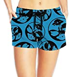 DE9h Pants Bonsai Tree Circle Root Women Quick Dry Beach Shorts Fashion Lightweight Surf Shorts With Pockets
