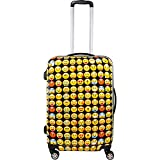 ful Emoji 28in Spinner Rolling Luggage Suitcase, Yellow