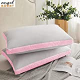 Angel Mommy Pregents Hypoallergenic Gusseted Pillow - Side Back Sleepers Set of 2, Standard (17'x27'Inch)