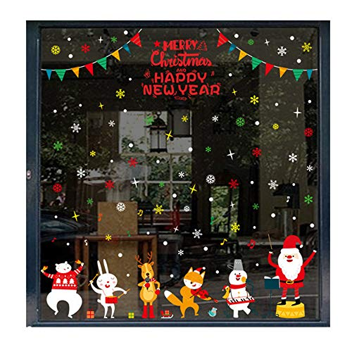 Window Decal,Christmas Scene Sock Decoration Home Decorations Gifts,For Walls, Doors,Closets, Plastic, Tiles, Fridges (Multicolor) ()
