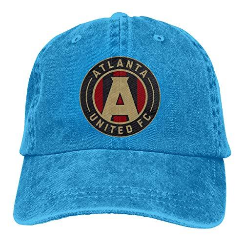 Hip Hop Atlanta United Racer Adjustable Cowboy Cap Denim Snapback Hat for Women Men -