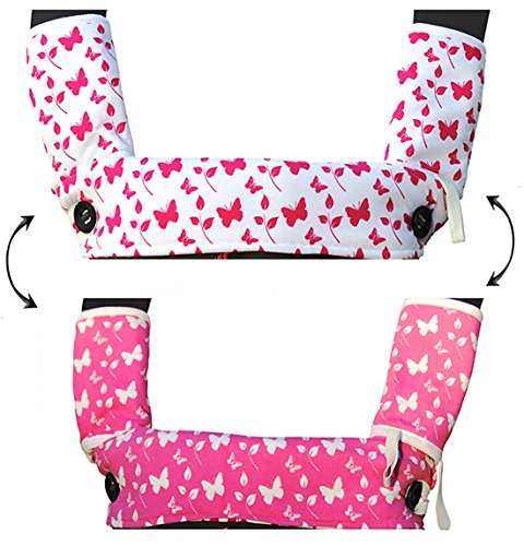 Drool and Teething Pad Reversible Organic Girls-3-Piece set for Ergobaby Four Position 360 Baby Carrier by Amazing Tot