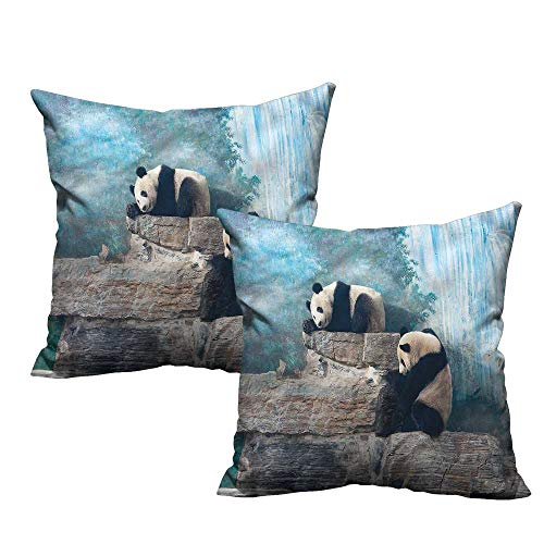 Beijing Panda - HeKua Panda,Pillow case Covers Bear in Beijing Zoo on Stones 18