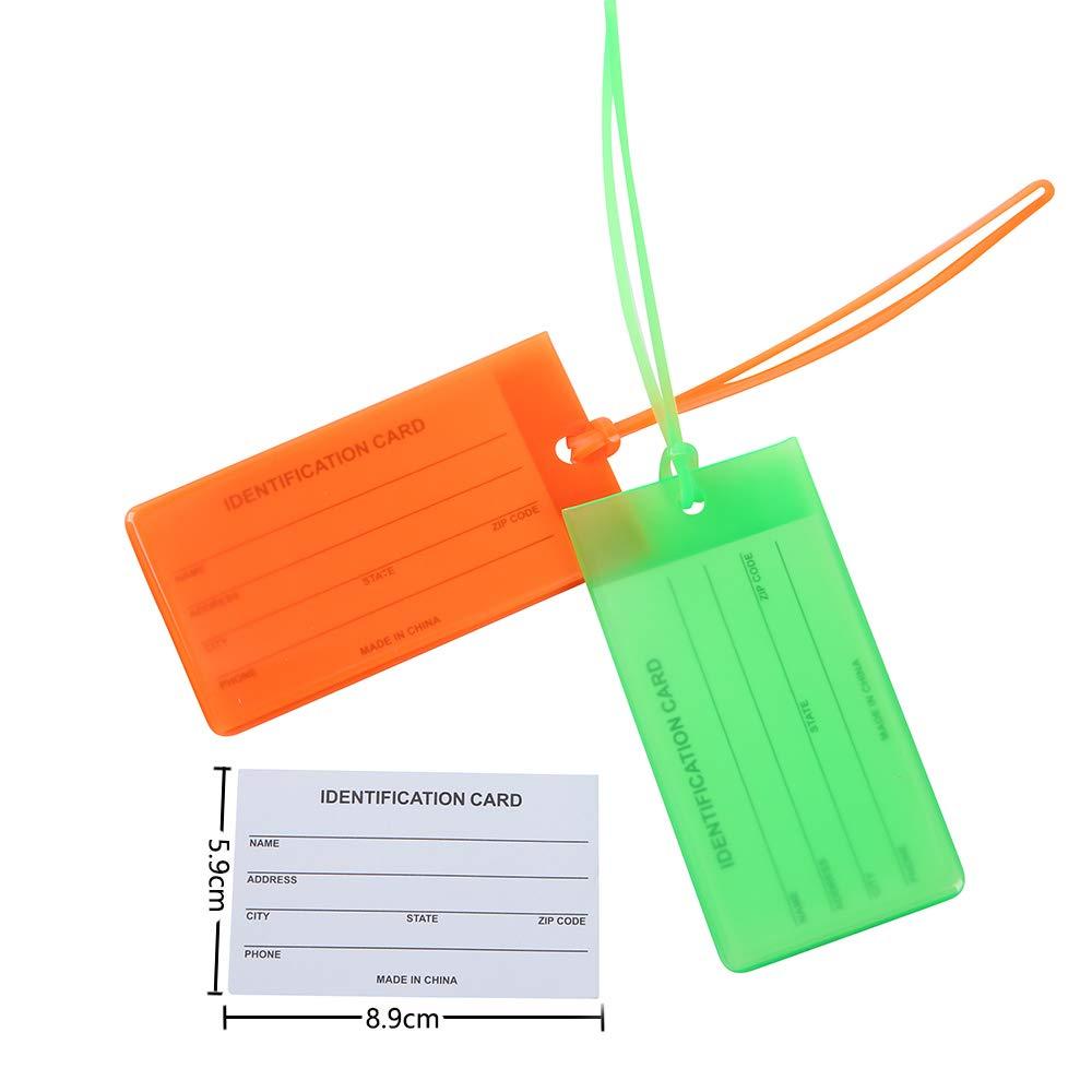 AIXMEET 7 Piezas Maletas Viaje Etiquetas Luggage ID Tag Etiqueta de Equipaje