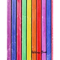 Address Book: Colorful  Large Print, Font, 8.5 by 11 For Contacts, Addresses, Phone Numbers, Emails & Birthday. Big Alphabetical Organizer Journal Notebook. Over 300 Spaces