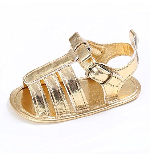 Dairyshop Kleinkind -Baby-Junge weiche Sohle Antirutsch -Sandalen mit bowknot -Gold