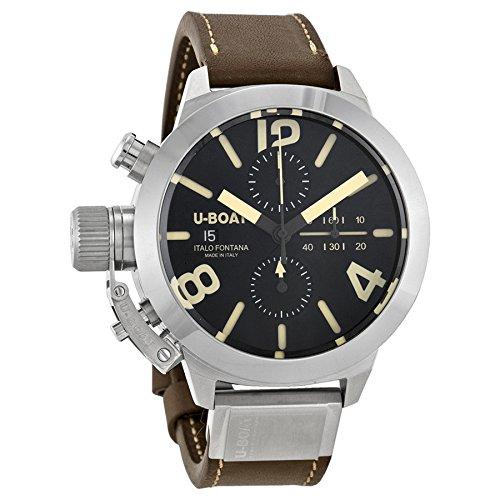 U-Boat Classico Tungsteno Cas1 Automatic Chronograph Black Dial Mens Watch 7430