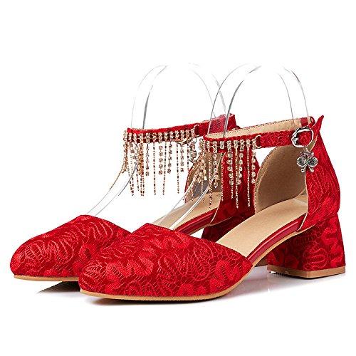 de es agua verano de Zapatos perforación punta su de y tamaño red hueca de sandalias de Vestir gruesa BnHqwOfA