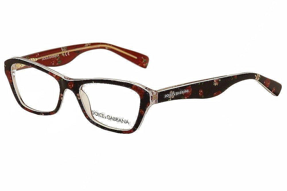 Dolce e Gabbana Almond Flowers DG3202 C47 Dolce Gabbana DOLCE & GABBANA DG 3202 Eyeglasses 2850 Opal Red 47-15-130 Luxottica Model No : DG3202 - ALMOND FLOWERS