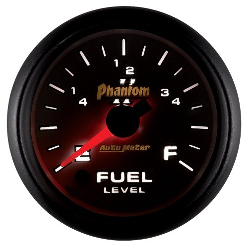 Auto Meter 7510 Phantom II 2-1/16'' Universal Stepper Full Sweep Fuel Level Programmable Empty - Full Range Gauge by Auto Meter (Image #3)
