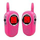 Walkie Talkies for Kids, 22 Channel FRS/GMRS Walkie Talkie 2 Way Radio 3 Miles UHF Walkie Talkies (1 Pair) Pink