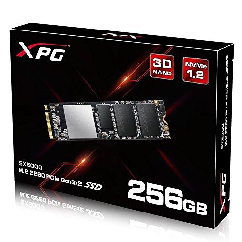 ADATA XPG SX6000 PCIe 256GB 3D NAND PCIe Gen3x2 M.2 2280 NVMe 1.2 R/W up to 1000/800MB/s Solid State Drive (ASX6000NP-256GT-C) by ADATA (Image #5)