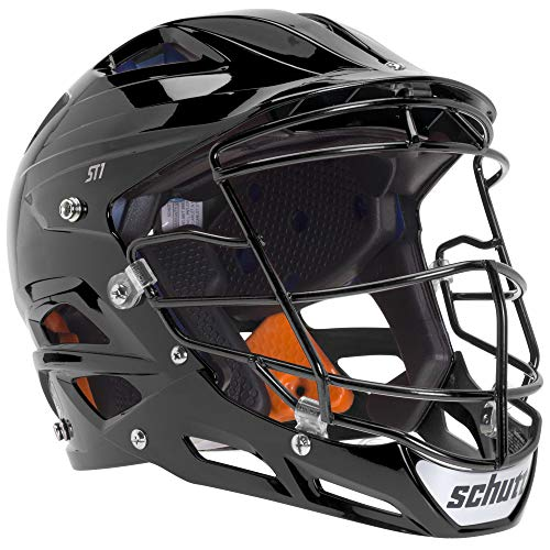 (Schutt Sports ST1 Pitcher's Protector Softball Facemask with Matching Guard, Black, X-Large)