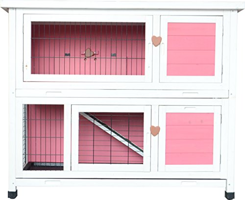 MCombo 0323L Wooden Rabbit Hutch Small Animal House Pet Cage/Chicken Coop, 40