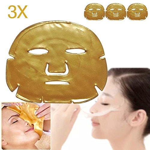 3pcs Gold Crystal Collagen Facial Mask Face Masks Moisture E