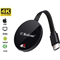 picK-me Wireless WiFi Display Dongle 4K UHD Adapter HDMI, 2.4GHz Video Sharing Media, Compatible Android iOS Windows -Support Miracast Airplay DLNA TV Stick for Laptop Phone to TV Monitor
