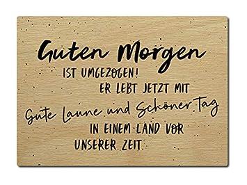 Interluxe Luxecards Postkarte Holzpostkarte Guten Morgen Ist