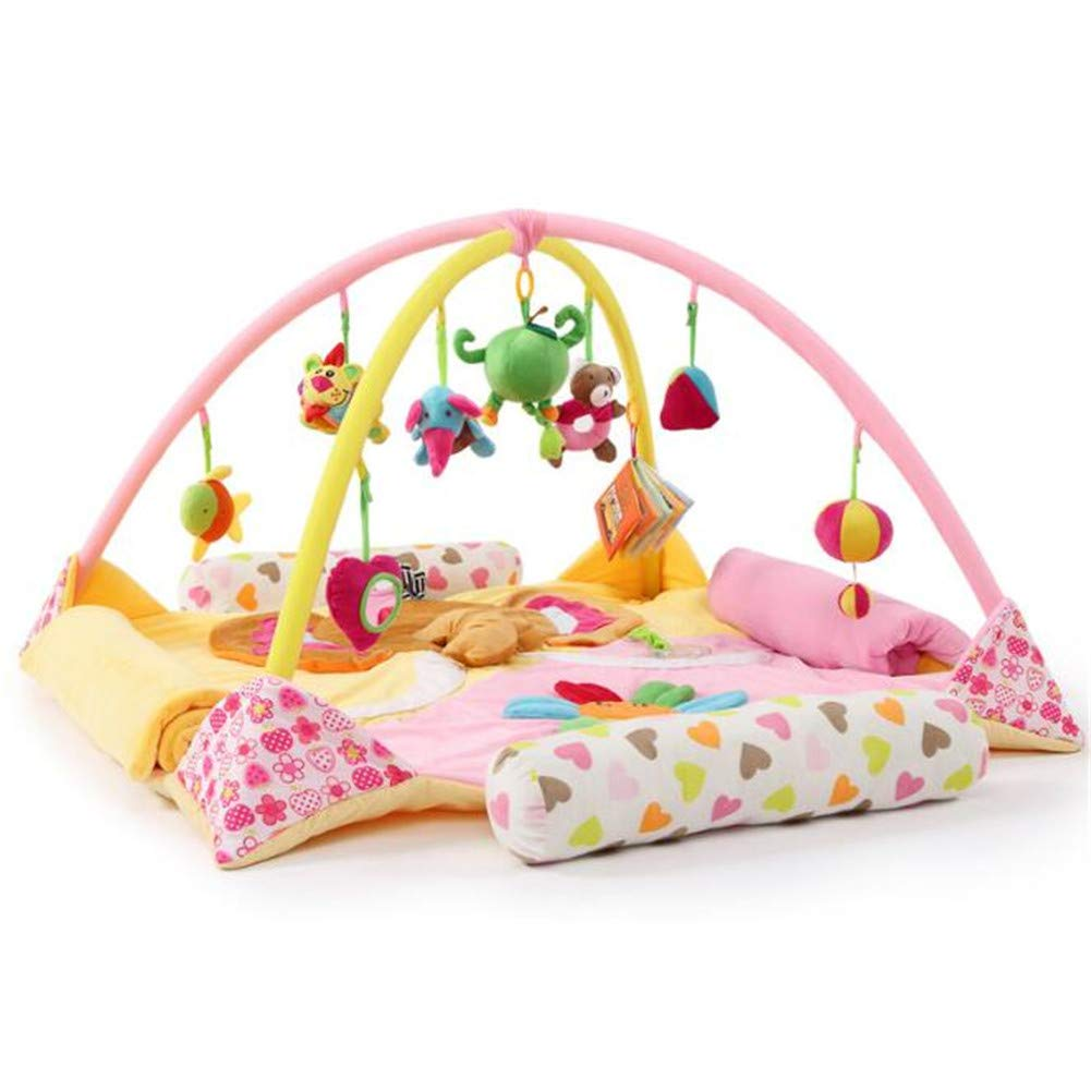 2019 Playmet Baby Toy Extended Baby Coperta Gioco Coperta 100% Cotone Decorazione Camera per Bambini Grounded in Science - Educational Playtime w a Scopo,rosa