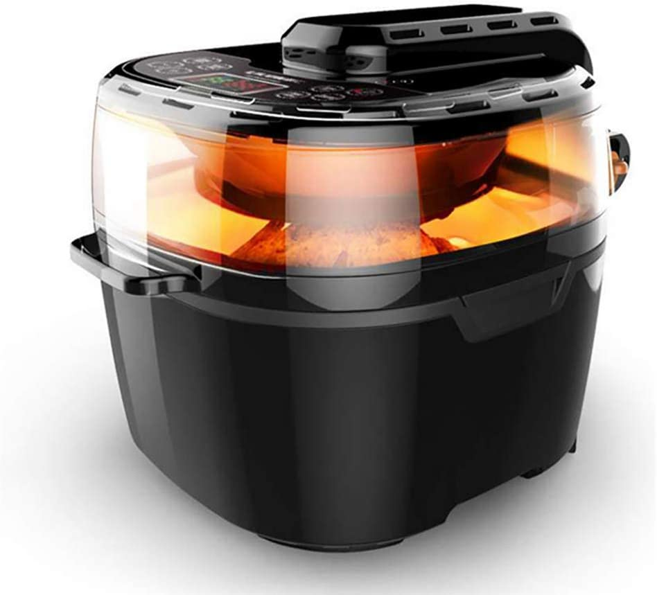 ZZHMW Electric Hot Air Fryer Extra Large Capacity 10.0L / 10.0 QT Air Fryers and Additional Accessories, Recipes, 1350W.