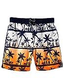Osh Kosh B'Gosh Baby Boys Infant Orange & Navy Swim Short (18 Months)