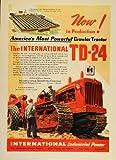 1948 Ad International Diesel Crawler Tractor TD-2 Plant - Original Print Ad