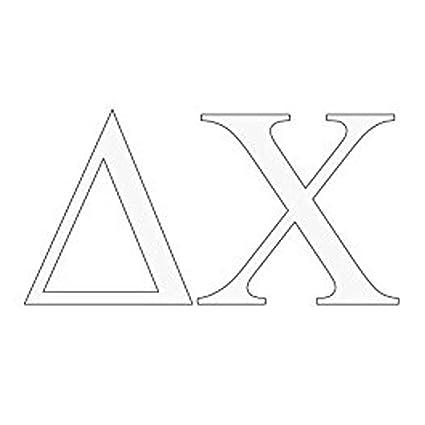 Amazon Express Design Group Delta Chi Greek Letter Window