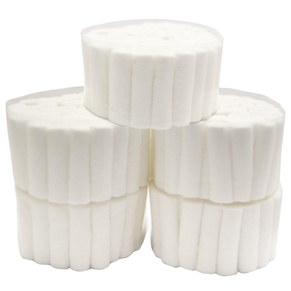250 White Dental Cotton Roll High Absorbent Cotton Sterile Dentist Cotton Rolls #2 Medium Roll Pack Tenozek