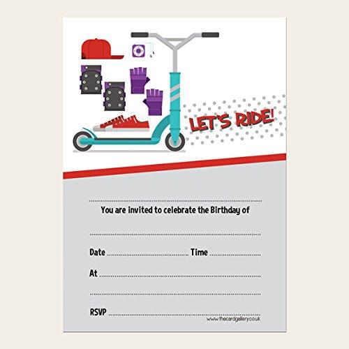 Invitaciones de cumpleaños para niños - Patinete acrobático ...