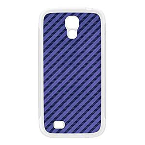 Diagonal Stripes - Purple White Silicon Rubber Case for Galaxy S4 by Gadget Glamour + FREE Crystal Clear Screen Protector