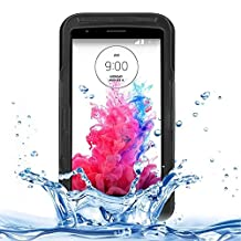 For cellphone Cases, IPX8 Waterproof Dustproof Shockproof Protective Case with Lanyard for LG G3 ( Color : Black )