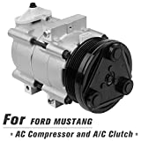 2003 mustang ac compressor - AUTOSAVER88 4R3Z-19V703-AA AC Compressor and A/C Clutch for Ford Mustang 2000 2001 2002 2003 2004 4.0 V8/4.6 V8/4.2