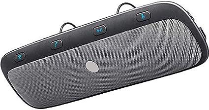 Zeerkeer Bluetooth Altavoz Portátil BT Manos Libres Kit de Coche Cancelación de Ruido Visera Solar Inalámbrico Sensor de Vibración en el Coche Transmisión de Voz Altavoz Kits para Android y iOS