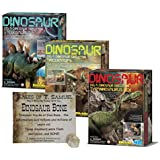 Dig a Dinosaur Excavation Dino Kit T-Rex Stegosaurus and Triceratops Dinosaurs - 3 Pack Includes Authentic Dinosaur Bone!