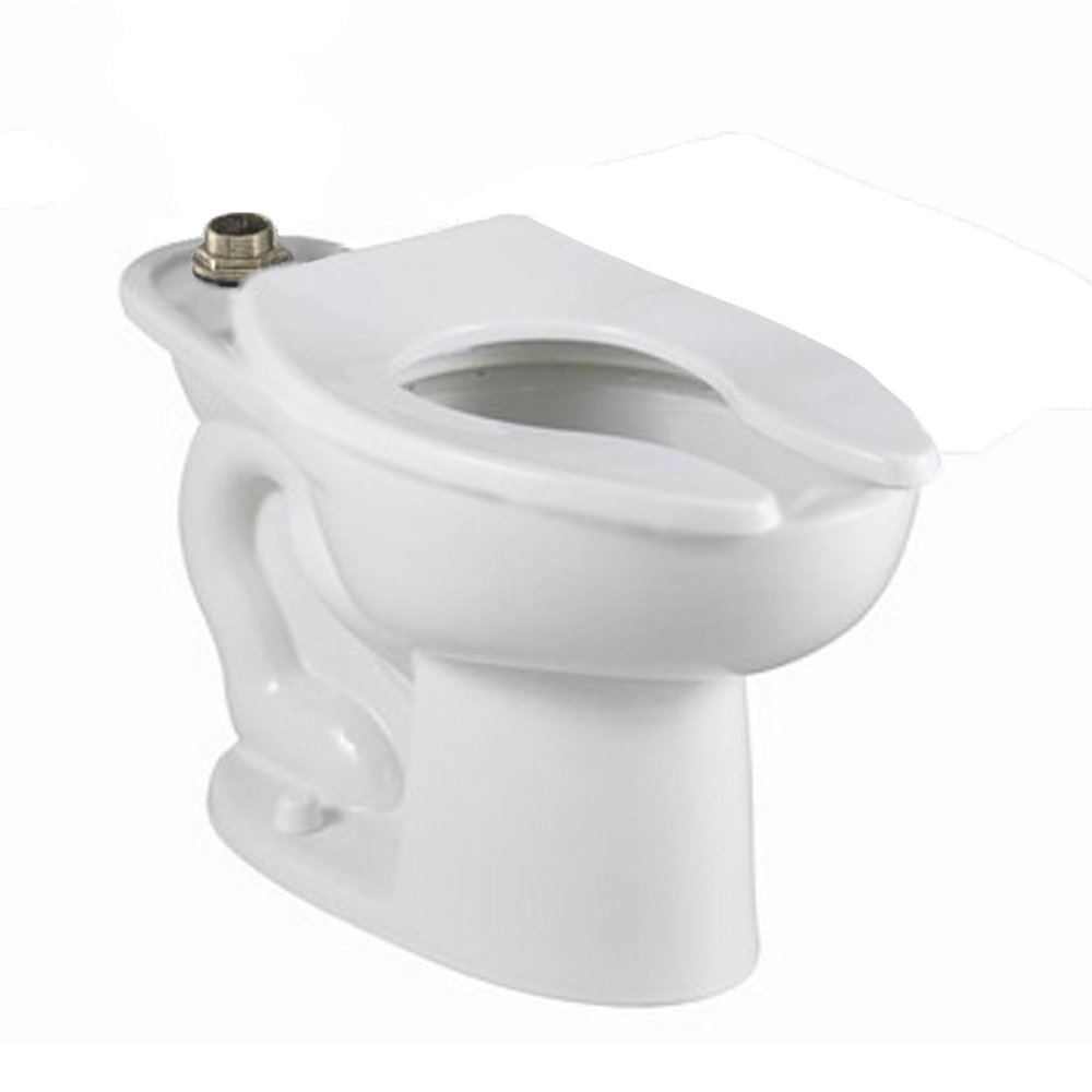 American Standard 3452.001.020 Madera 15-Inch Elongated Universal Floor Mount Top Spud Toilet Bowl with Everclean and Slotted Rim, White 3452001.020